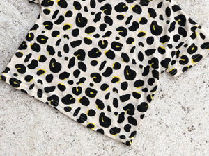 KIDS CUSTOM T SHIRT- Leopard Beige