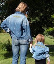 Load image into Gallery viewer, TWINNING CUSTOM DENIM JACKETS- Basic Gold Alphabet