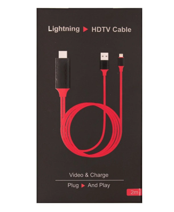 iPhone/Android-to-TV HDMI Cable - 2m/6.5ft