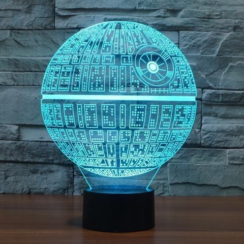 Death Star 3D LED Light