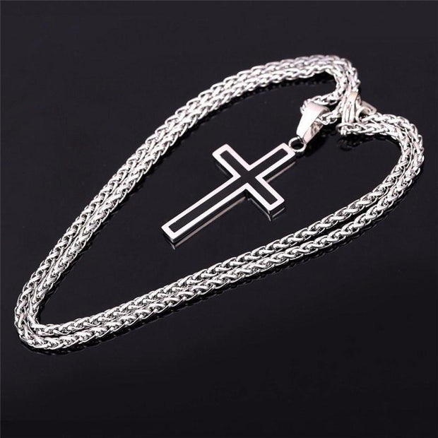 18K Gold Plated Platinum Cross Necklace