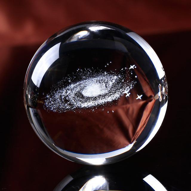 3D Laser Engraved Galaxy Spirit Crystal Ball