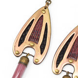 BRAVA EARRINGS in rose/black
