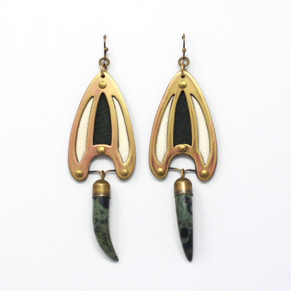 BRAVA EARRINGS in green