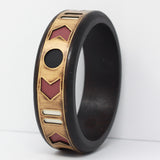 WOOD AND BRASS CUFF in rose