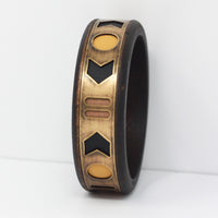 WOOD AND BRASS CUFF in tuscan sun