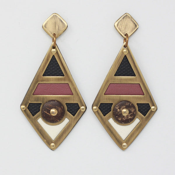 KAI EARRINGS in rose/black