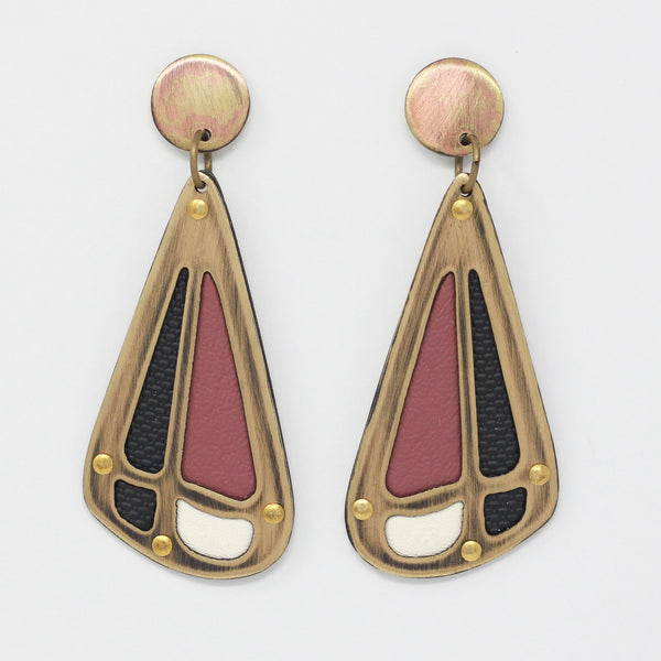 PIECE EARRINGS in rose