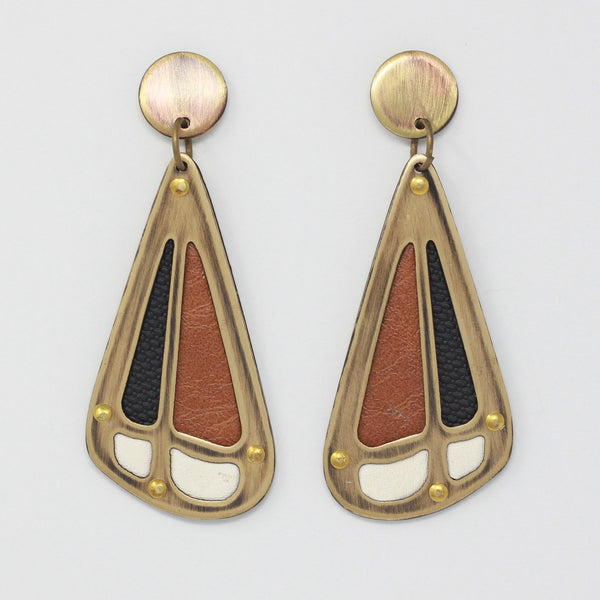 PIECE EARRINGS in tawny