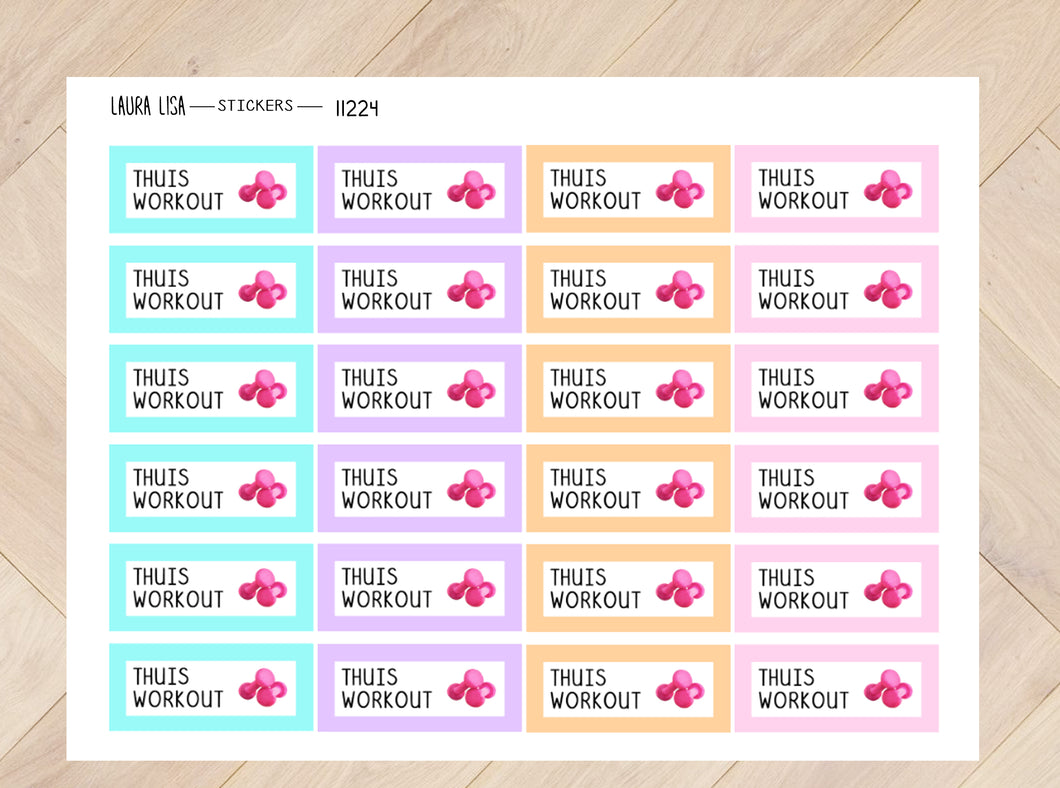 Sticker sheet home workout neon 11224
