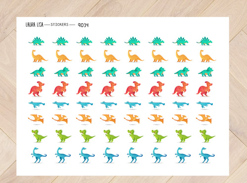 Stickervel dino's 9034