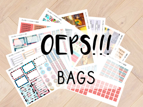 Oops Bags Misses / masters + separate sticker sheets