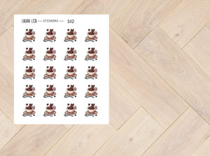 Character sticker time for coffee 5112