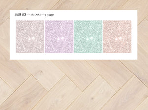 Stickervel Glitter headers 2014