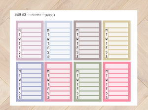 Sticker sheet Tracker large (English) 9003