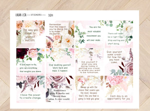 Sticker sheet Quotes with flowers 3211
