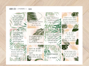 Sticker Sheet Quotes with Leaves 3212