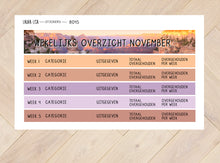 Load image in Gallery view, sticker sheets combi financial overview November 8042 to 8045