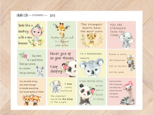 Sticker sheet Quotes with animals 1 3173