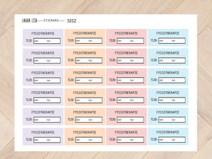 Sticker sheet physiotherapy pastel 3252