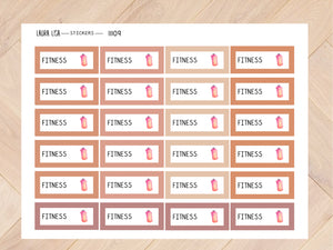 Sticker sheet fitness Joshv 11109