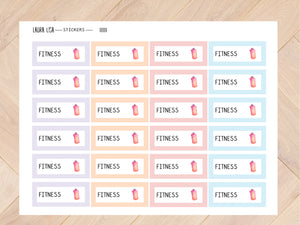 Sticker sheet fitness pastel 11111