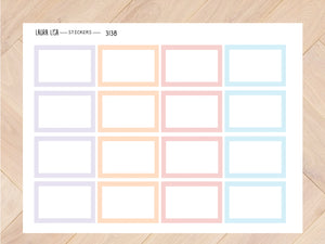 Sticker sheet half squares pastel 3138