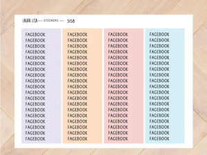 Sticker sheet facebook pastel 3158