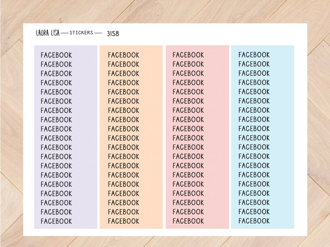 Stickervel facebook pastel 3158