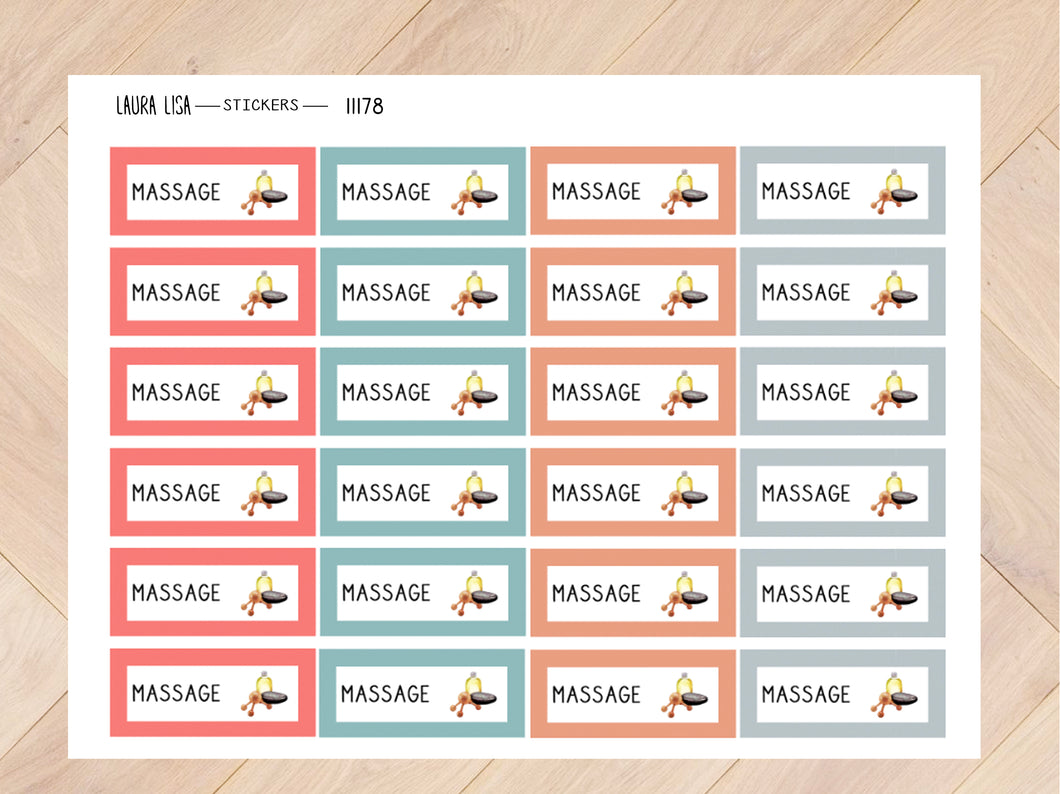 Stickervel massage mascha 11178