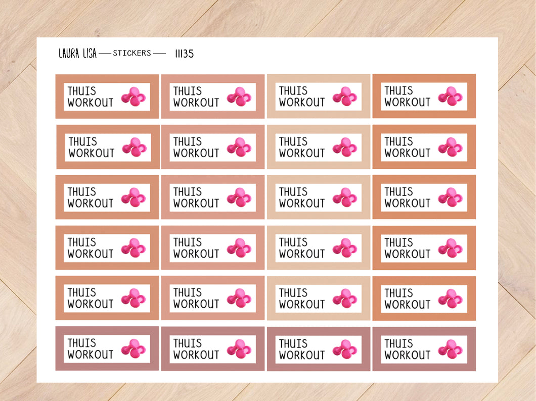 Stickervel thuis workout joshv 11135