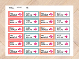 Sticker sheet home workout mascha 11136