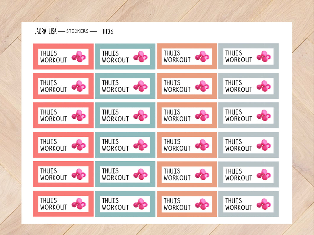 Stickervel thuis workout mascha 11136