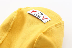 Zipper Hooded Sweatshirt - Yellow