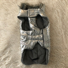 Load image into Gallery viewer, Warm Silver Jacket w/ Faux Fur Trim