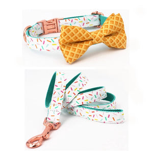 Sundae Sprinkles Collar, Bowtie, + Leash
