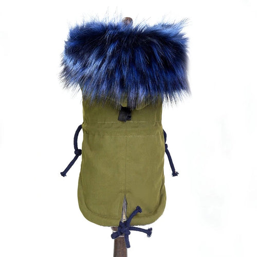 Jacket w/ Faux Fur Trim and Fleece Lined - Olive