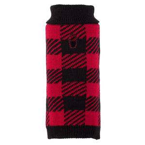 Buffalo Plaid Knit Turtleneck Sweater