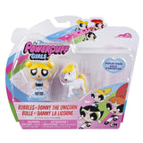 The Powerpuff Girls Bubbles & Donny The Unicorn Figure Pack