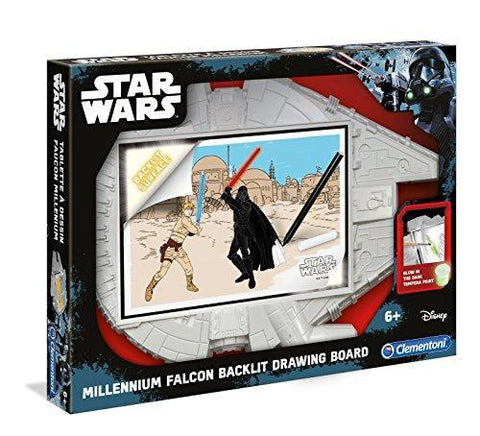 Clementoni Disney Star Wars Millennium Falcon Backlit Drawing Board