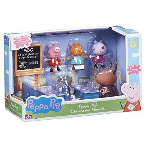 Peppa Pig Classroom Playset With 5 Figures