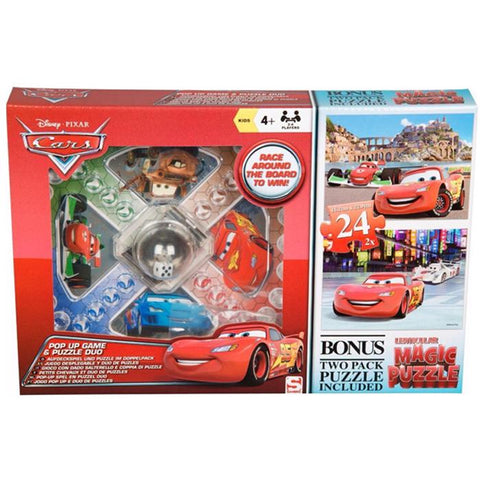 Disney Cars Pop Up Game & Jigsaw Puzzle Duo Set