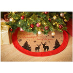 Jute Christmas Tree Skirt With Felt Trim - It's The Most Wonderful Time Of The Year