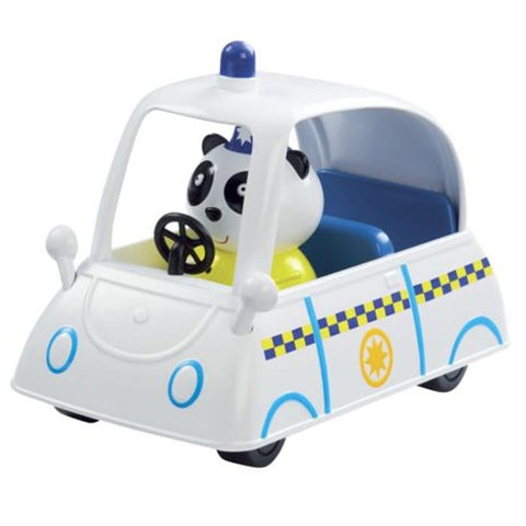 Peppa Pig PC Panda Police Car Vehicle Set With Figure