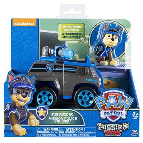 Paw Patrol Mission Paw Chase's Mission Police Cruiser Basic Vehicle With Figure