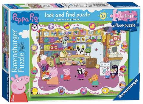 Ravensburger Peppa Pig My First Floor Puzzle Look & Find 16 Piece Jigsaw Puzzle