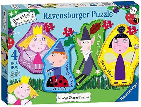 Ravensburger Ben & Holly 4 Large Shaped Jigsaw Puzzles (10,12,14,16pc)
