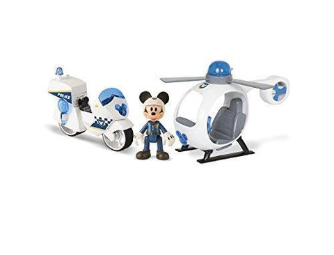 Disney Mickey Mouse and the Roadster Racers Police Motorbike and Helicopter