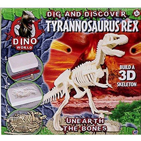 Dino World Jurassic Dig & Discover Tyrannosaurus Rex Digging Kit Unearth The Bones