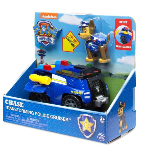 Paw Patrol Chase Transforming Police Cruiser Vehicle With Figure